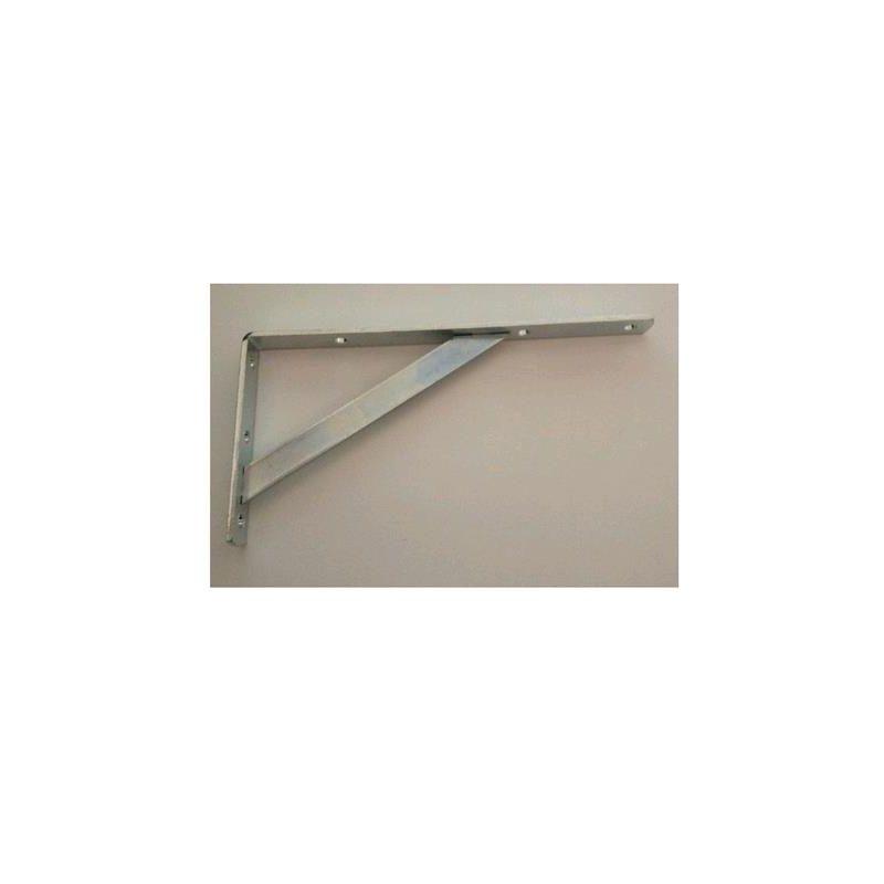 Mensola con Saetta in Acciaio Zinco Cromato misura 25 cm Spessore 3 mm 1 pz