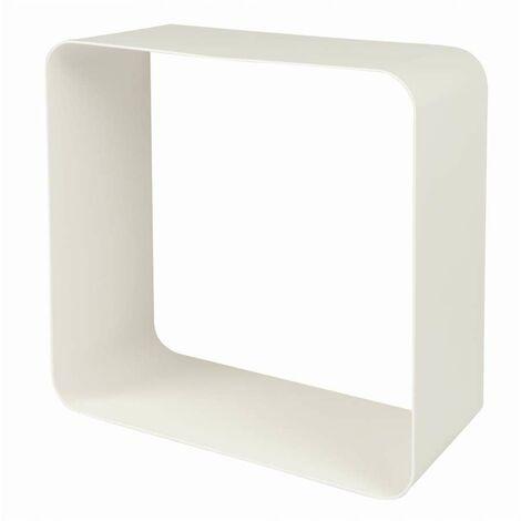 Mensola cubo metallo bianco