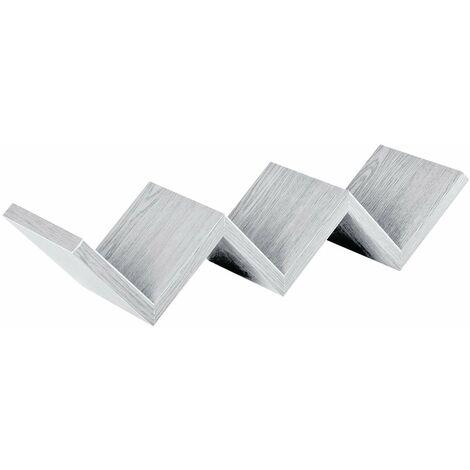"""Mensola in legno """"Zig Zag"""" da parete design moderno con fissaggio a scomparsa -Rovere Impriale"""