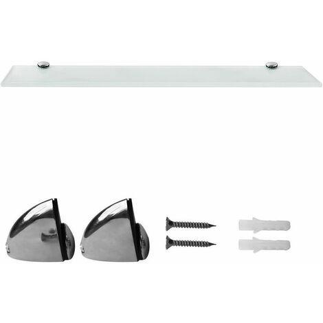 30 cm, Bianco diverse dimensioni perfetto come ripiano per il bagno Ripiano a parete in vetro trasparente ripiano in vetro con vetro di sicurezza ESG da 6 mm