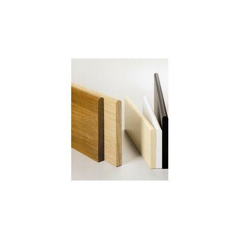 Mensola in legno 6 pz. bordo tondo cm.80x20x1,8 colore ciliegio - Salone