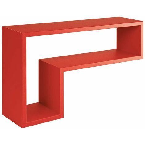 """Mensola in legno """"Lettera L"""" da parete design moderno con fissaggio a scomparsa"""