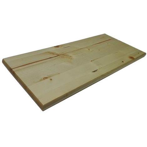 Mensola legno massello finitura naturale 56x24x2.8cm