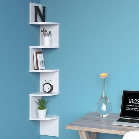 Mensola Moderna a Muro Angolare libreria porta cd Scaffale ad Angolo in legno