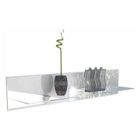 Mensola moderna con ripiano in vetro a muro ufficio salotto ...