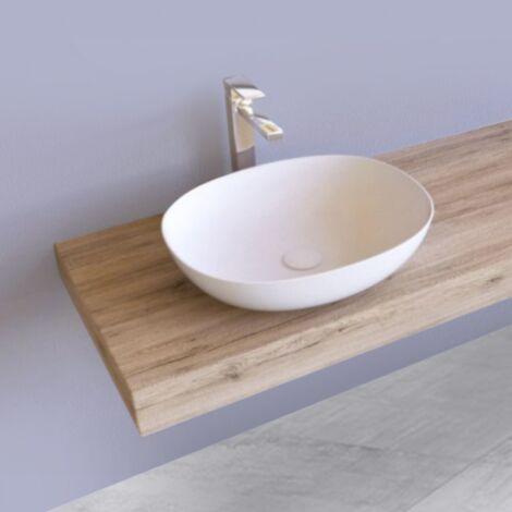 Mobiletto Mensola lavabo massello a terra   da 60 cm a 80 cm