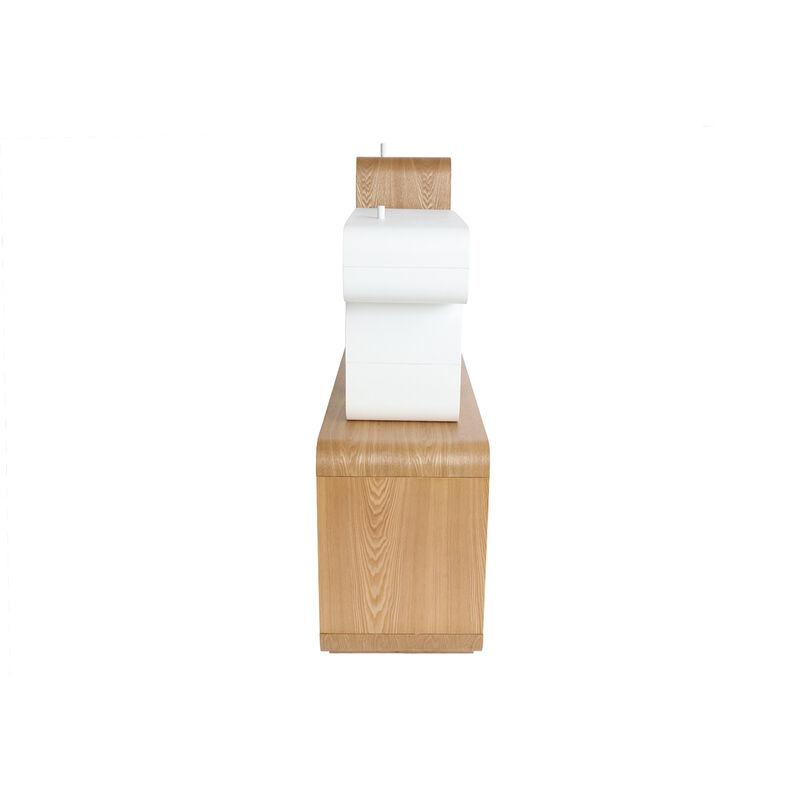 Mensola regolabile legno chiaro e bianco BRICK Mensole
