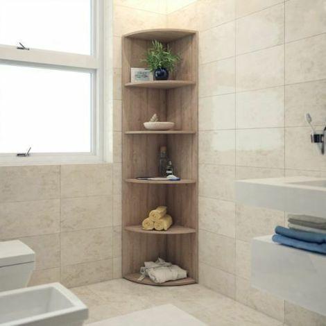 Mensola scaffale angolare con 5 scomparti mobile studio soggiorno ...