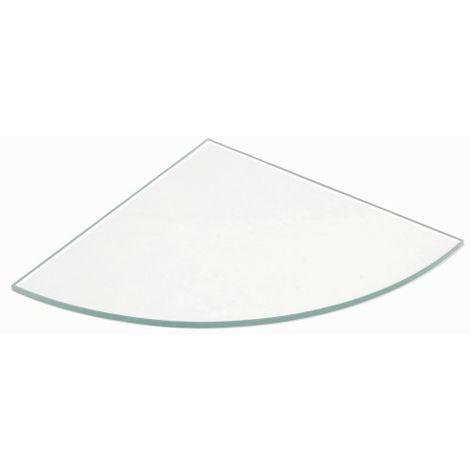 Mensole Di Vetro Angolari.Mensola Vetro Trasparente Angolare 6x250x250 Feve618