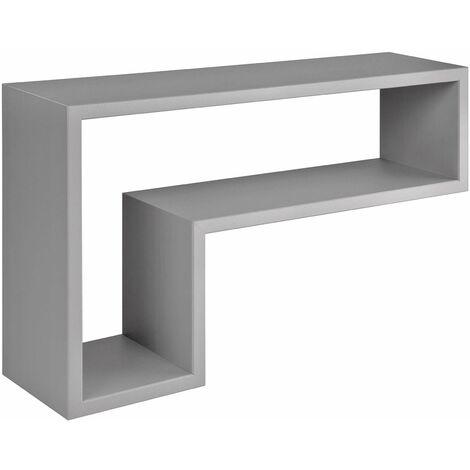 "Mensole da Muro in legno, a Cubo, design a forma di ""L"""