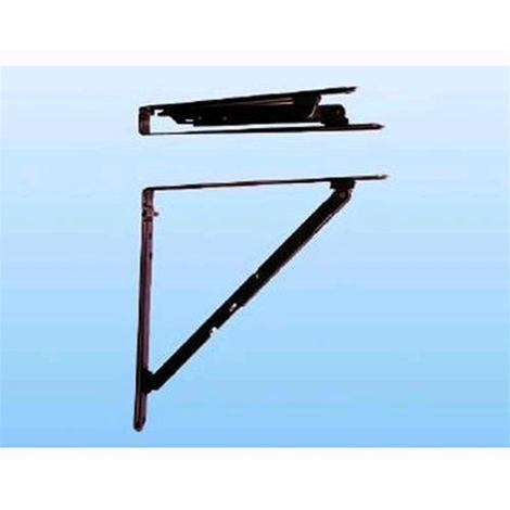 Staffe Per Mensole Richiudibili.Mensole Pieghevoli 30x30 Cm Colore Nero Conf 2 Pz 420024