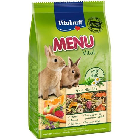 Menu Vital Alimento para Conejo Enano Vitakraft - 3 kg
