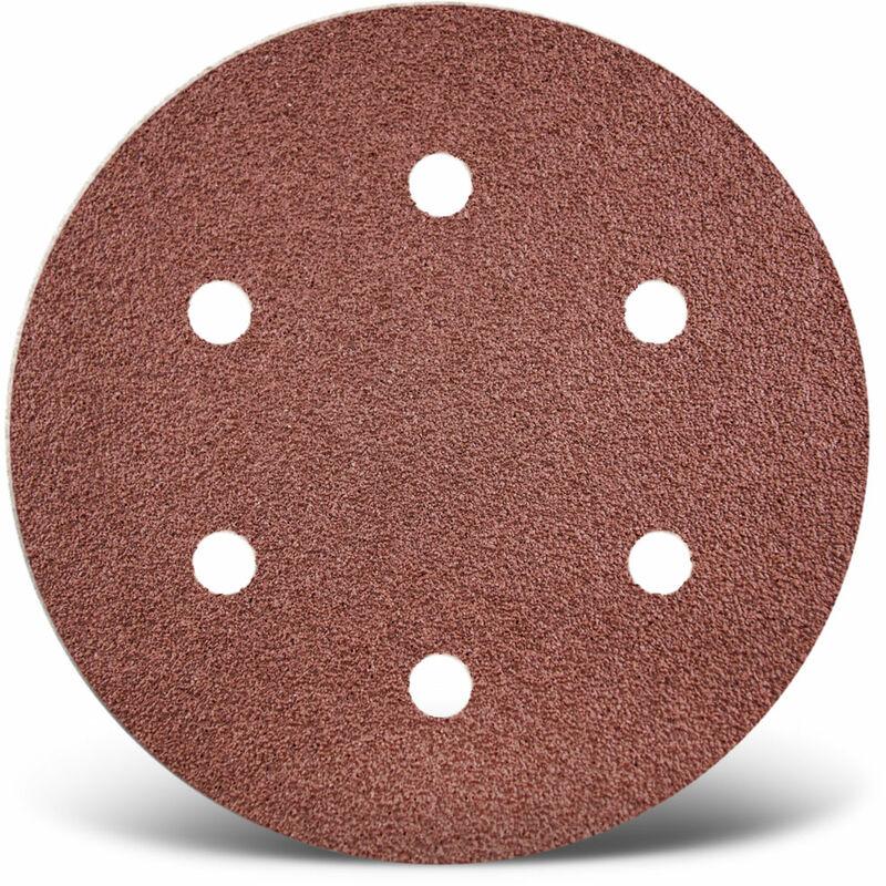 5 Stk. Normalkorund f Korn 120 10-Loch MENZER Red Klett-Schleifscheiben 225 mm Trockenbauschleifer
