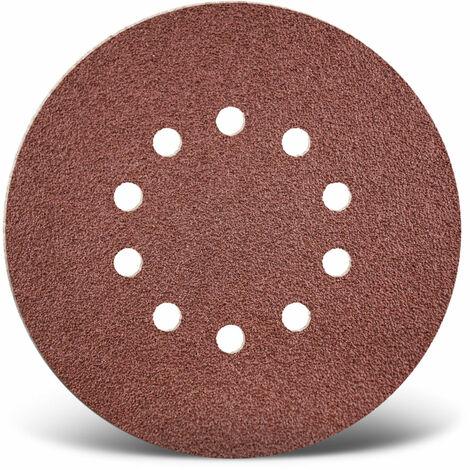 150 mm Korn 24 25 Stk. 9-Loch Exzenterschleifer Normalkorund MENZER Red Klett-Schleifscheiben f