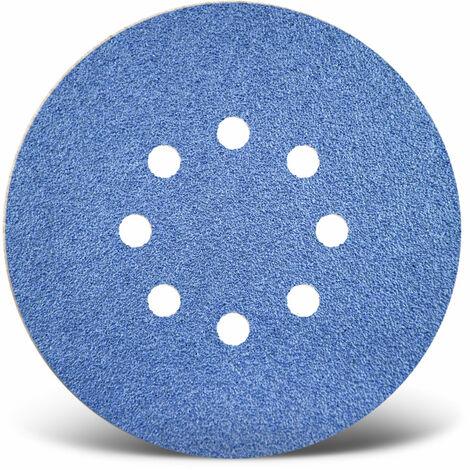 25 MENZER Klett-Schleifscheiben Exzenterschleifer 150 mm 8-Loch K24-120
