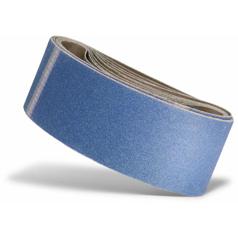 Image of 10 MENZER Schleifbänder f. Handbandschleifer, 457 x 75 mm / K60 / Zirkonkorund