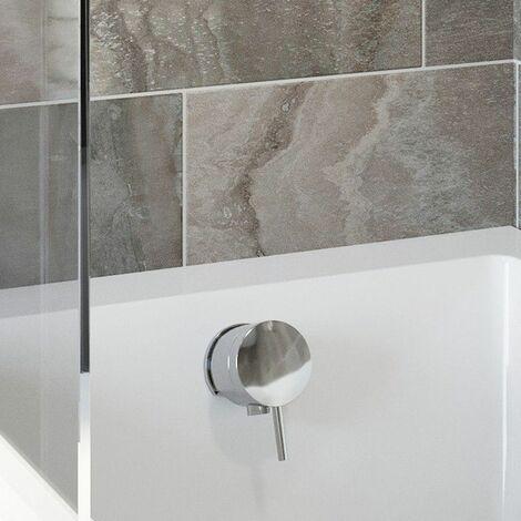 Merano Overflow Bath Filler With Waste Chrome Round Bathroom Modern