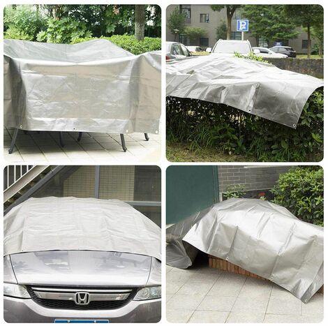 MercartoXL Bâche couverture de bateau bâche 180g gris / m² 3x4m gris NJ
