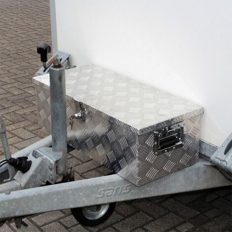 MercartoXL Boîte à outils aluminium boîte à outils de la boîte de transport 760x320x245mm