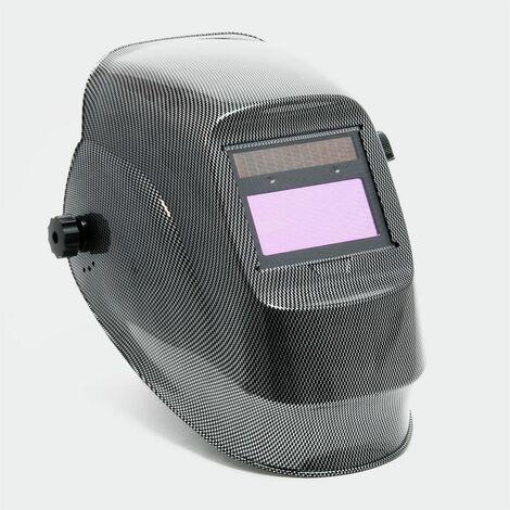 MercartoXL Casque de soudage automatique conception carbone, dim automatiquement