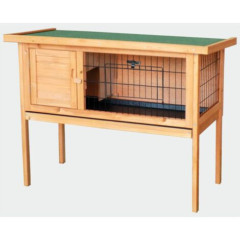 MercartoXL Clapier Poulailler et huche, Petit Animal House lapins maison en bois 915 x 450 x 700 mm