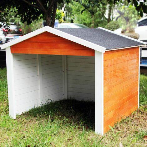 MercartoXL Garage pour maison en bois robot jardin pelouse robotique abri voiture 87 x 80 x 70 cm