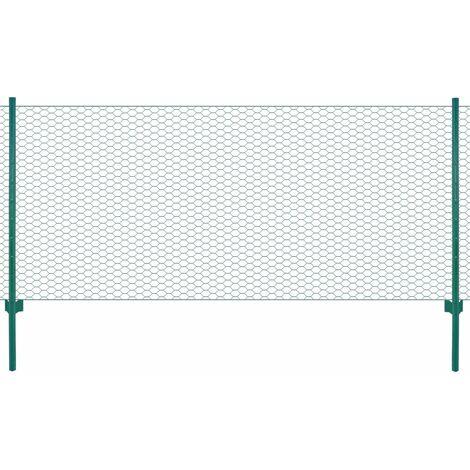 MercartoXL Grillage aviaries de fil de treillis métallique galvanisé 1mx10m 12x12mm mesh