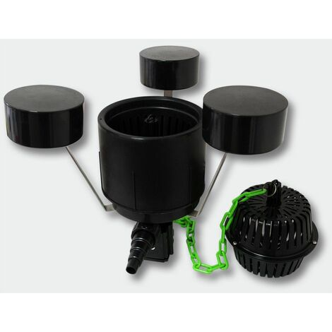 MercartoXL Le jeu de filtre tuyau de pompe de bassin 18W 20W Teichklärer de 25m DSP-250