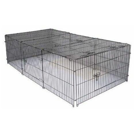 MercartoXL Luxe parc enclose Cage de clôture pour Rongeurs 144x112cm.