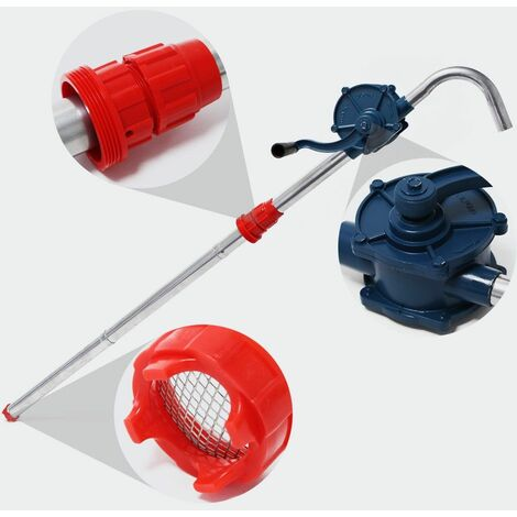 MercartoXL Pompe à baril de manivelle de la pompe à tambour en aluminium de fuel-oil diesel pompe à main 22 l / min