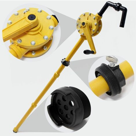 MercartoXL Pompe à baril de manivelle de la pompe baril d'huile combustible diesel pompe à main 30 l / min