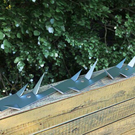 MercartoXL Rampe d'escalier en acier inoxydable 2 barres transversales 140cm parapet mains courantes garde-corps