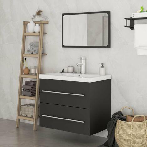 MercartoXL Rampe d'escalier en acier inoxydable 3 barres transversales 80cm parapet mains courantes garde-corps