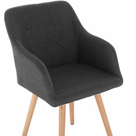 MercatoXL Chaise à linge de cuisine chaise en bois massif gris foncé