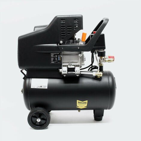 MercatoXL Compressore 24 litri di 1,1 kW aria compressa 8 bar compressore arrotolabile