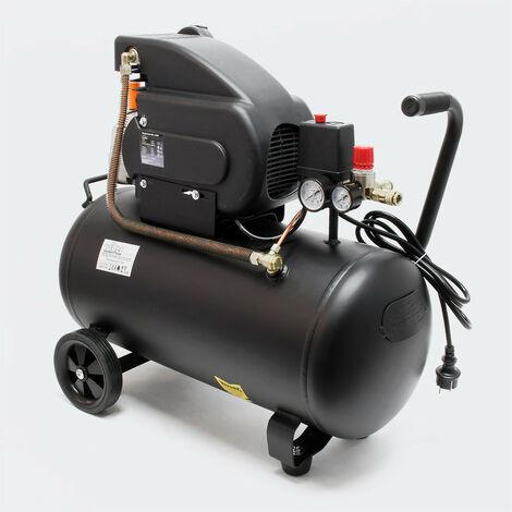 MercatoXL Compressore 50 litri di 1,5 kW aria compressa 8 bar compressore arrotolabile