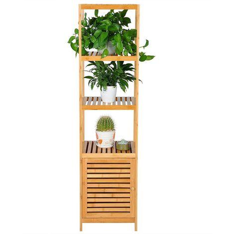 MercatoXL Rack, support avec des étagères 5 et bac bambou