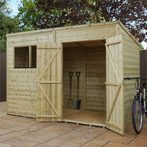 Mercia 10x5ft Pressure Treated Pent Roof Garden Shed