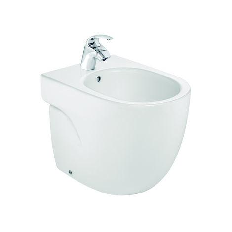 ROCA Bidé de porcelana compacto - Serie Meridian , Color Blanco