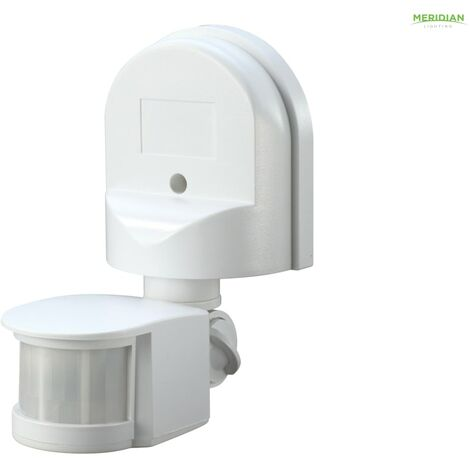 Meridian Lighting Wall Mounted PIR Motion Detector White