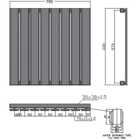 Merlo Single Horizontal White Radiator (Various Sizes Available)