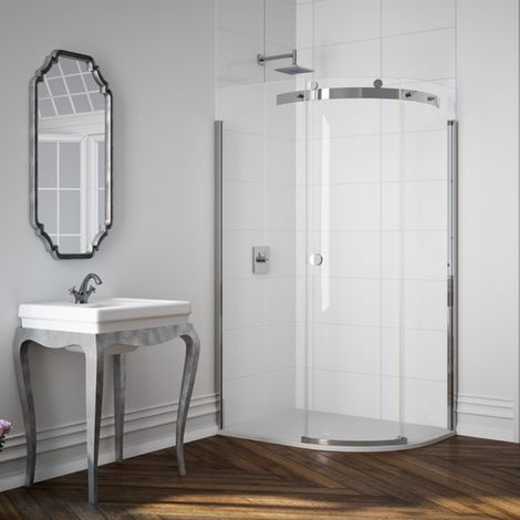 Merlyn 10 Series 1200 X 800 Offset Quadrant Shower Enclosure And Tray