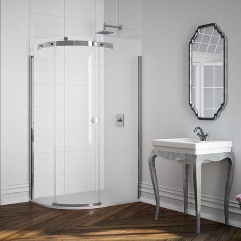 Merlyn 10 Series 1400 X 800 Offset Quadrant Shower Enclosure & Tray Lh