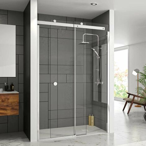 Merlyn 10 Series Sliding Shower Door 1400mm Wide Right Handed - Clear Glass