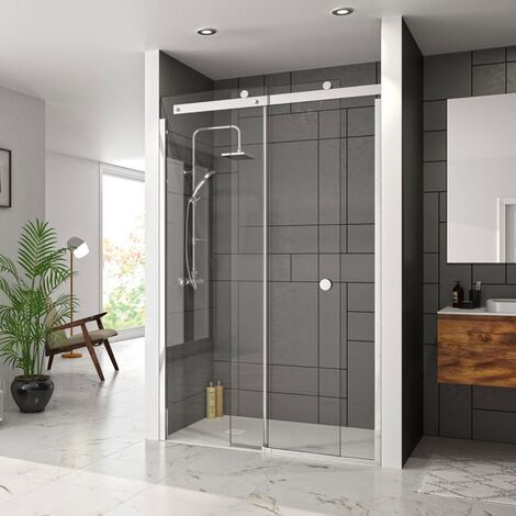 Merlyn 10 Series Sliding Shower Door 1600mm Wide Left Handed - Clear Glass