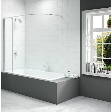 Merlyn 300x1500mm Curtain Rail Bath Screen