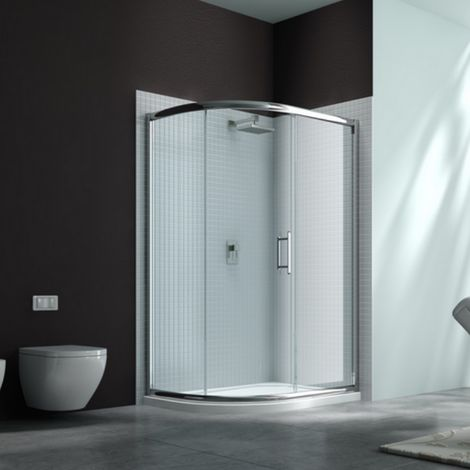 Merlyn 6 Series 1200 X 800 Offset Quadrant Shower Enclosure Tray Lh