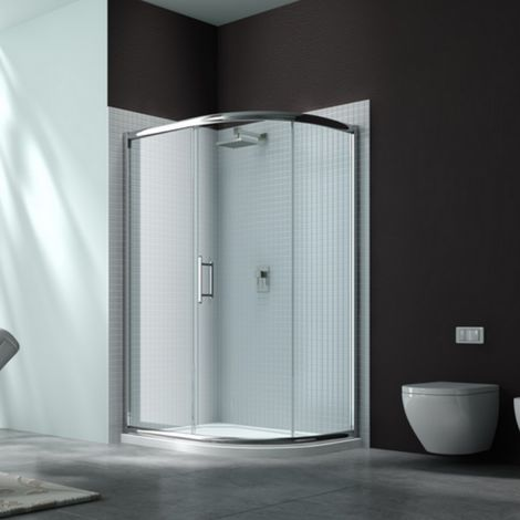 Merlyn 6 Series 1200 X 800 Offset Quadrant Shower Enclosure Tray Rh