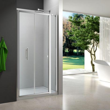 Merlyn 6 Series 1215mm Bi Fold Shower Door With Inline Panel