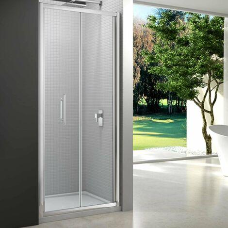Merlyn 6 Series Bi-Fold Shower Door 1000mm with 1000mm x 800mm Tray - 6mm Glass